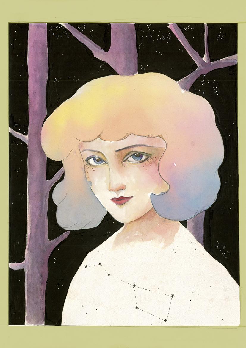 Retrato chica bosque