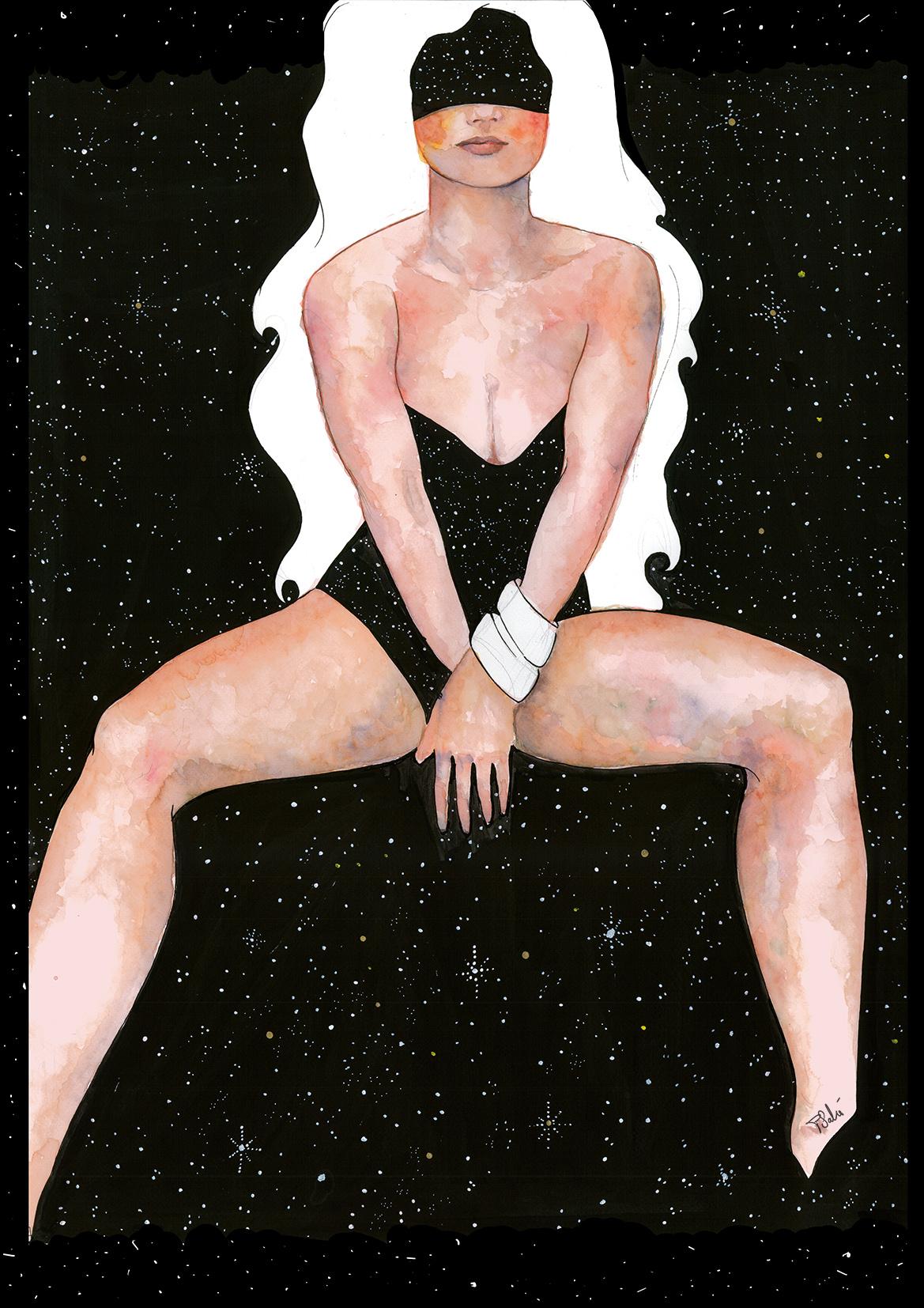 Mujer Estrellas Blanco
