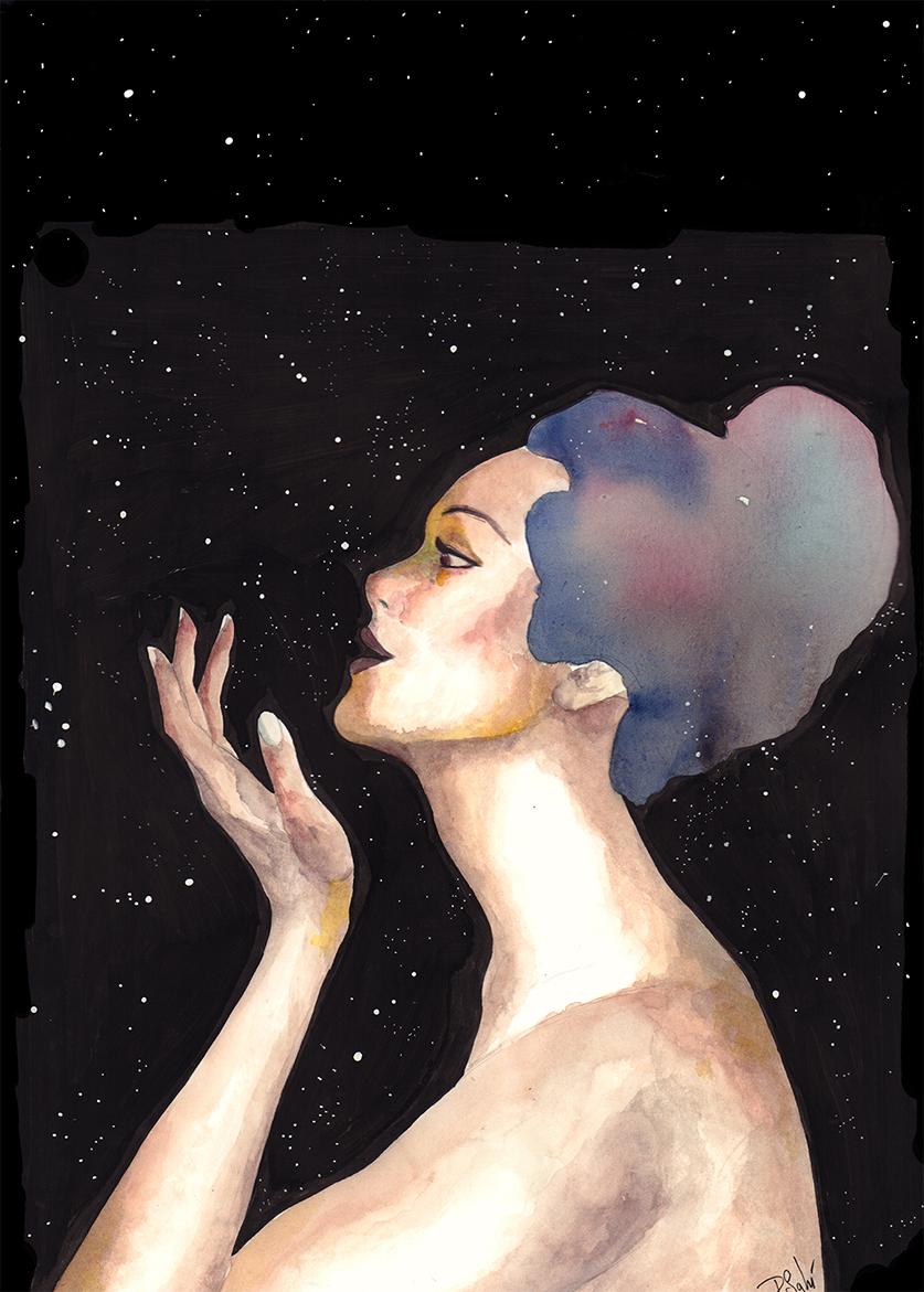 Pin up noche estrellas